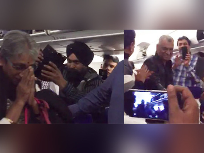 Abhinandan's parents recieved with immense respect by flight passengers!