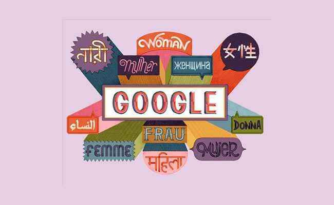 Google Doodle celebrates women's day while addressing women in varied languages!