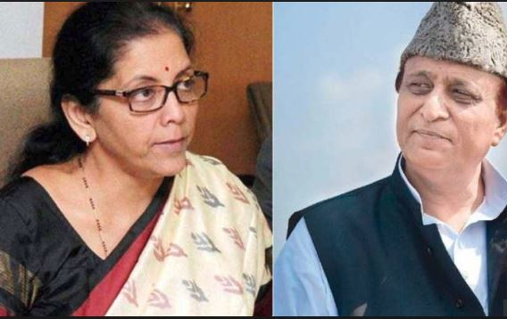 Sitharaman takes a sexism jibe at SP leader Azam Khan!
