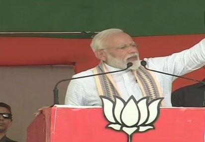 PM Modi addressing a public rally in Muzaffarpur, Bihar