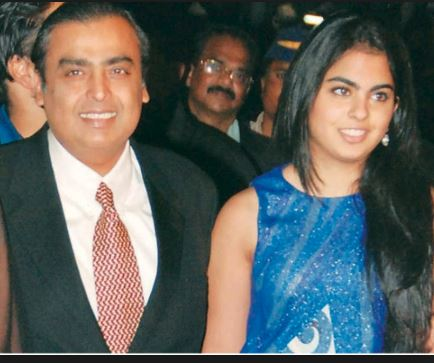 Isha Ambani shoots staunch Anti-Congress tweets while her father endorsed the Congress candidate
