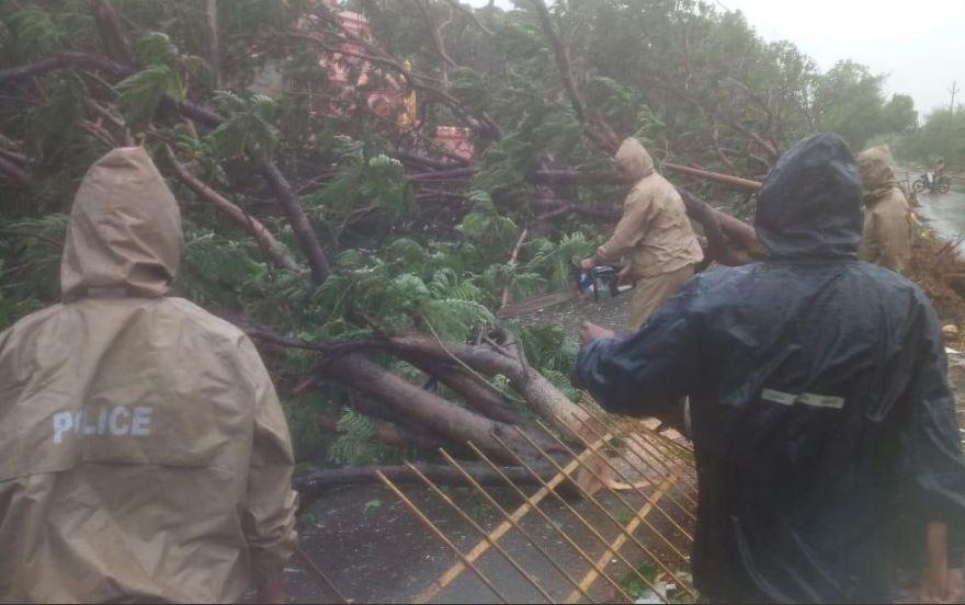 વાવાઝોડાં ફનીના લીધે ચૂંટણીપંચે આંધ્રપ્રદેશના 4 જિલ્લાઓમાં હટાવી આચારસંહિતા, ઓડિશામાં ઉખડ્યાં અનેક ઝાડ, 2નાં મોત