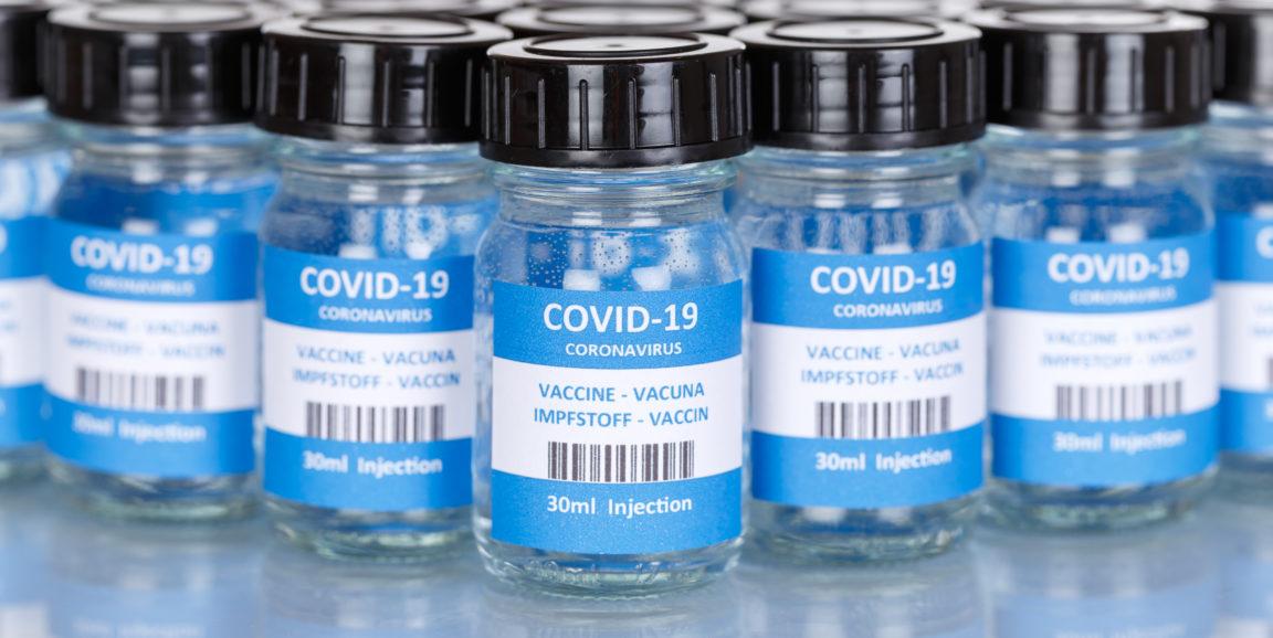 Coronavirus Vaccine bottle Corona Virus COVID-19 Covid vaccines panoramic