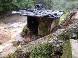 Chamoli: A damaged house after cloudburst at Gairsain in Uttarakhand's Chamoli district on Aug 6, 2019. (Photo: IANS)